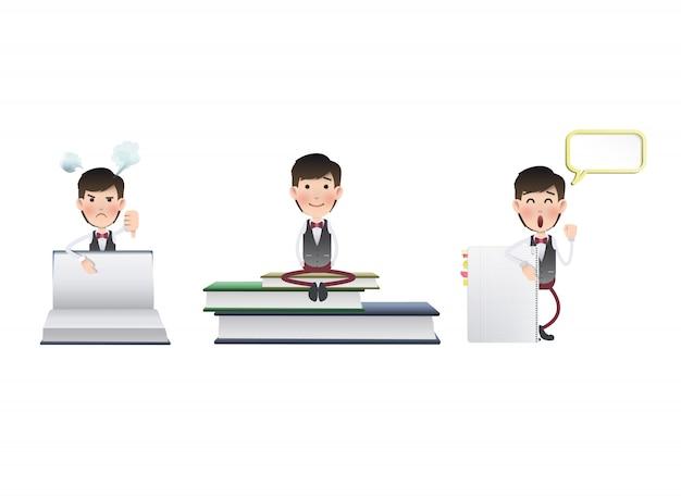 Lavoratore di brochure modello di cravatta pulita