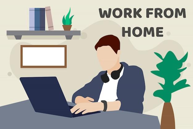 Lavoro da casa concetto