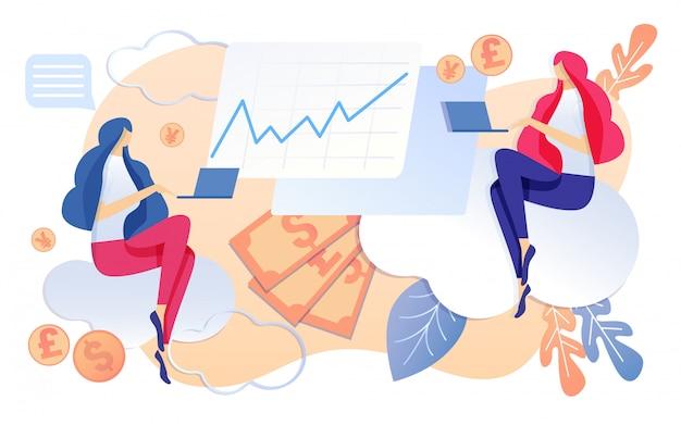 Lavoro della donna di contabilità della società di affari sul taccuino