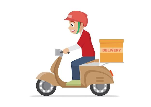 Lavoro di servizio di consegna.