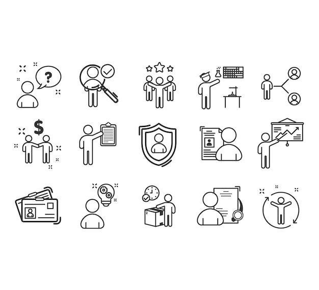 Lavoro di squadra al set di icone di successo