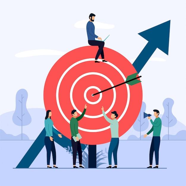 Lavoro di squadra business target