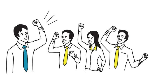 Lavoro di squadra d'affari di successo