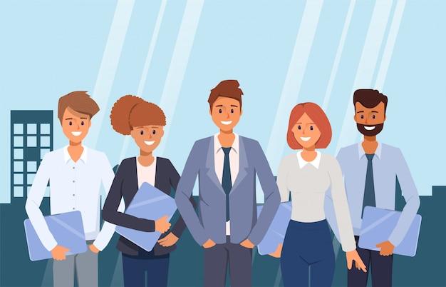 Lavoro di squadra di uomini d'affari co lavoro