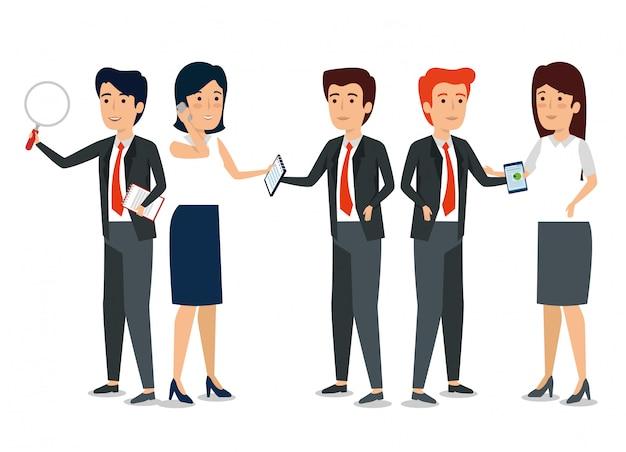Lavoro di squadra di uomini d'affari