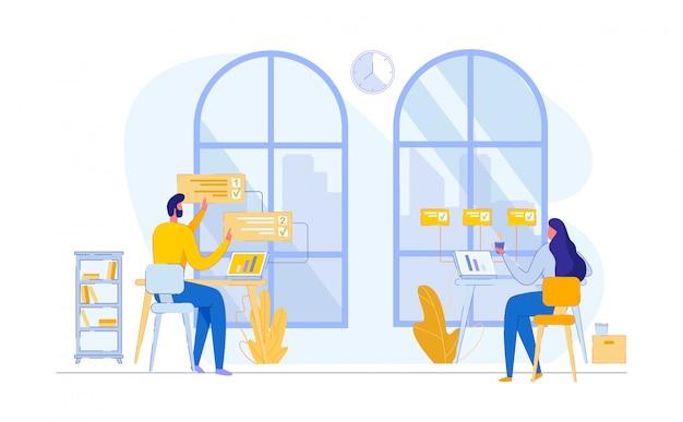 Lavoro di squadra proccess coworking place