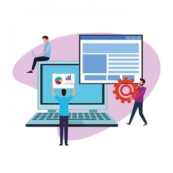 Lavoro di squadra sul design del computer