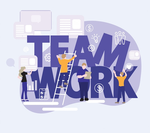 Lavoro di squadra utilizzando dispositivi digitali in ufficio moderno