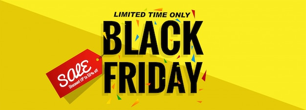 Layout del banner di vendita venerdì nero