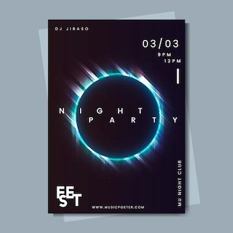 Layout del poster dell'evento