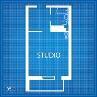 Layout dell'appartamento. studio.