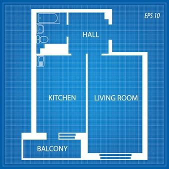 Layout dell'appartamento.