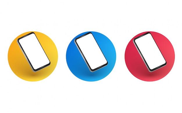 Layout dello smartphone inclinato
