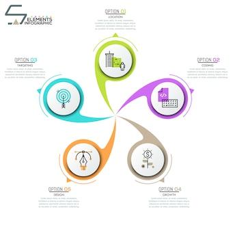 Layout design moderno infografica