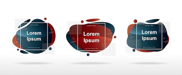 Layout di banner di vendita moderno con moderne forme astratte