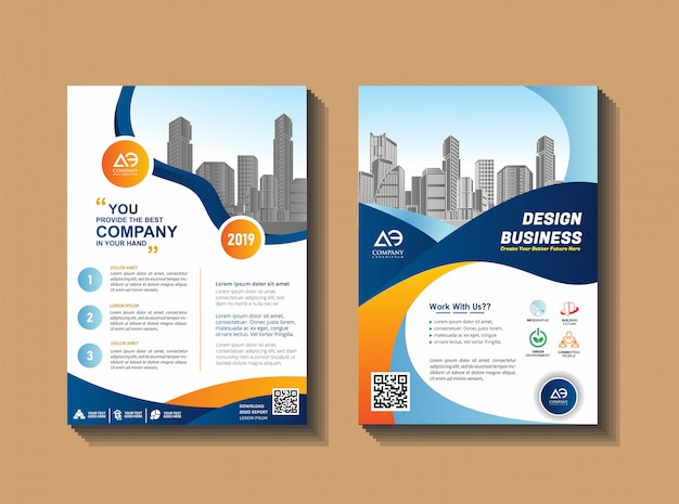 Layout di copertina per eventi aziendali e report