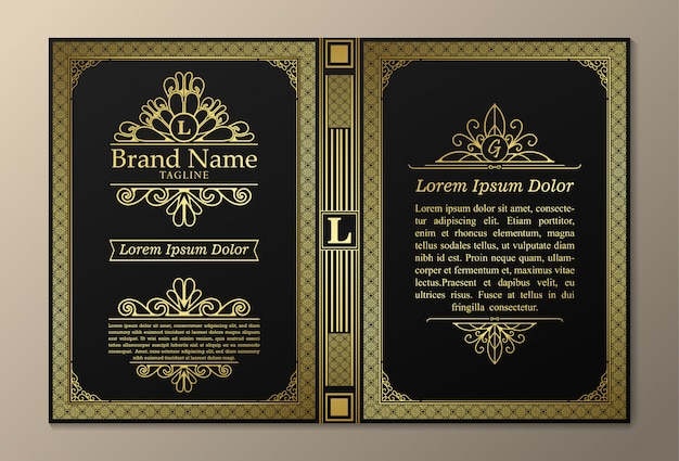 Layout di libri vintage dal design creativo
