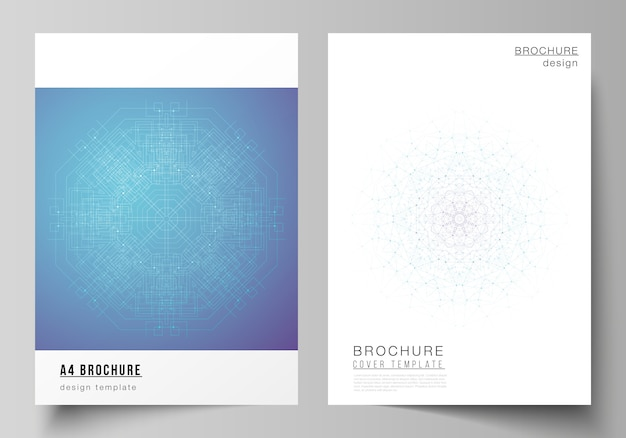 Layout di modelli di copertina moderna in formato a4 per brochure