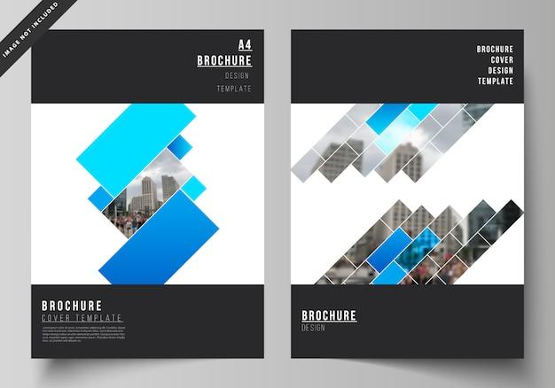 Layout di modelli di progettazione mockup di copertina moderna in formato a4