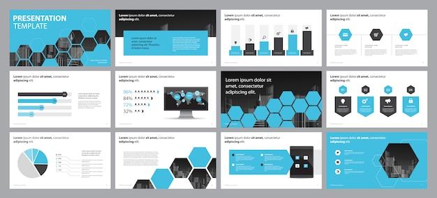 Layout di presentazione e brochure di presentazione aziendale