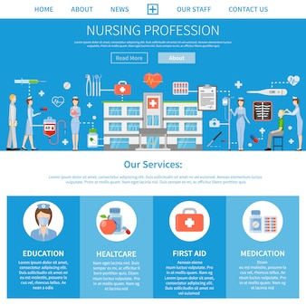 Layout di professione di professione d'infermiera