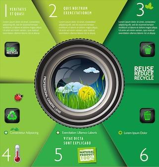 Layout di progettazione di ecologia moderna