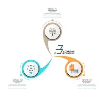 Layout di progettazione infografica