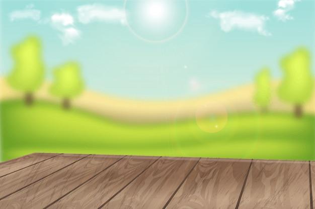 Layout di sfondo del campo verde