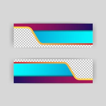 Layout di sfondo papercut di intestazioni e banner