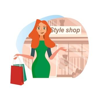 Le amiche di concept shopping nello style shop