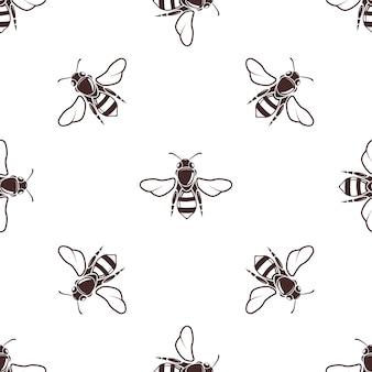 Le api mellifiche vector il modello leggero senza cuciture