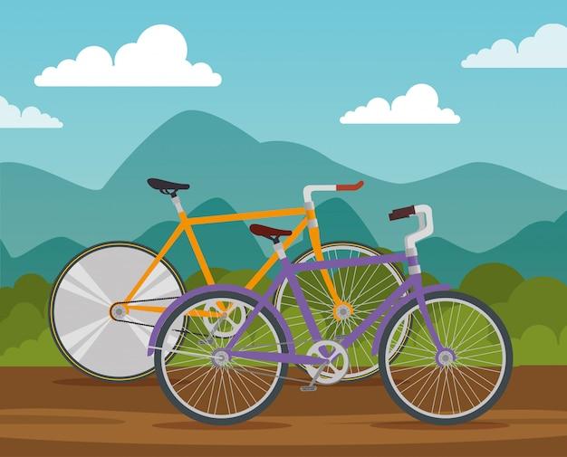 Le biciclette trasportano il veicolo per guidare