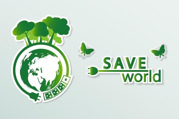 Le città verdi aiutano il mondo con idee concettuali eco-compatibili