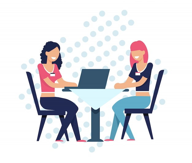 Le donne cercano il compagno di anima che si siede in linea alla tabella
