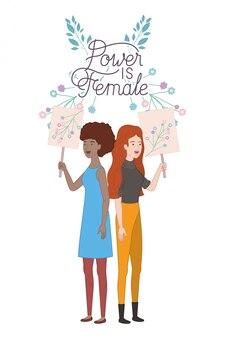Le donne con il potere dell'etichetta sono personaggi avatar femminili