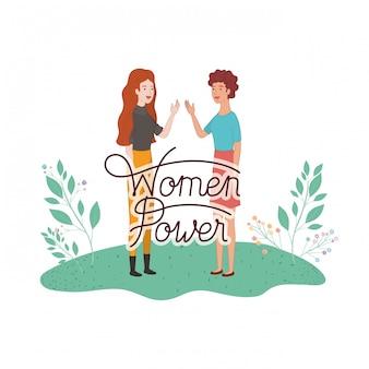 Le donne con le donne etichetta potere personaggio avatar