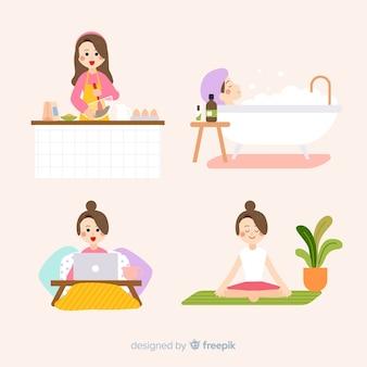 Le donne si godono il loro tempo libero