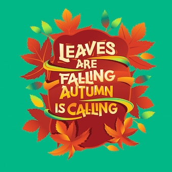 Le foglie stanno cadendo citazione