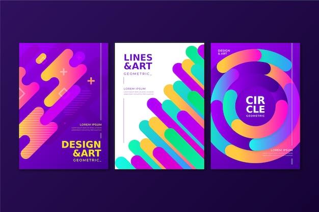 Le forme astratte di gradiente coprono il tema della raccolta