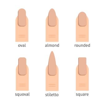 Le forme delle unghie più popolari con la manicure nuda