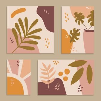 Le forme disegnate a mano astratte copre la raccolta