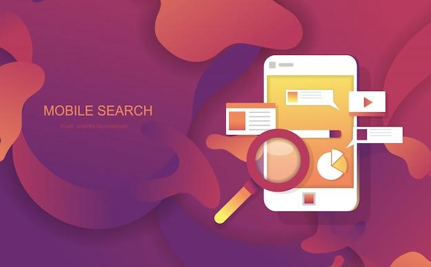 Le forme fluide di ricerca mobile sottraggono il fondo