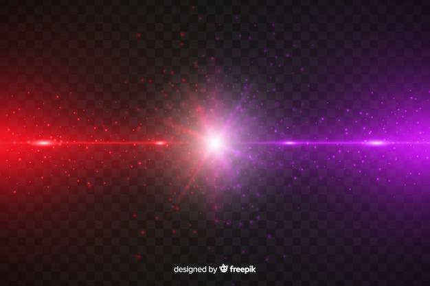 Le forze realistiche schiantano l'effetto della luce