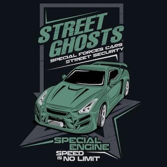 Le forze speciali dei fantasmi della via, vector l'illustrazione dell'automobile