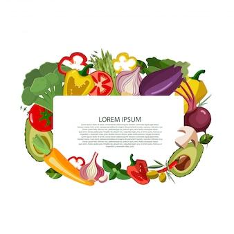 Le icone delle verdure di vettore hanno messo nello stile del fumetto.