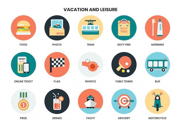 Le icone di vacanza hanno messo per l'affare