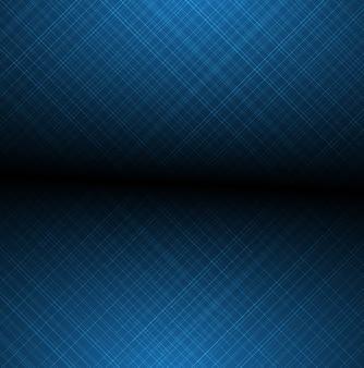 Le linee vaghe brillanti blu astratte hanno strutturato il fondo