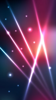 Le luci al neon futuristiche hanno offuscato la carta da parati mobile
