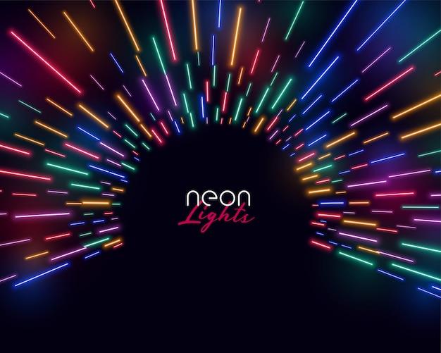 Le luci al neon hanno condotto il fondo variopinto della luce di scoppio