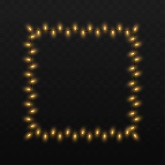 Le luci della stringa hanno isolato la decorazione su fondo trasparente